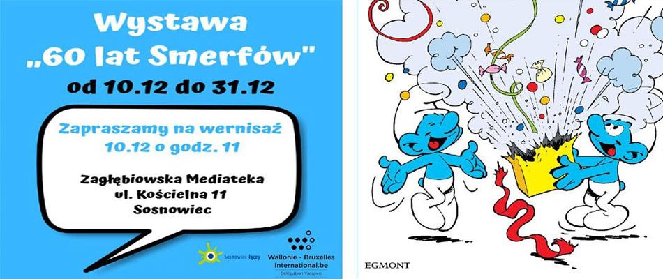 wystawa-60-lat-smerfow-zaglebiowska-mediateka-sosnowiec